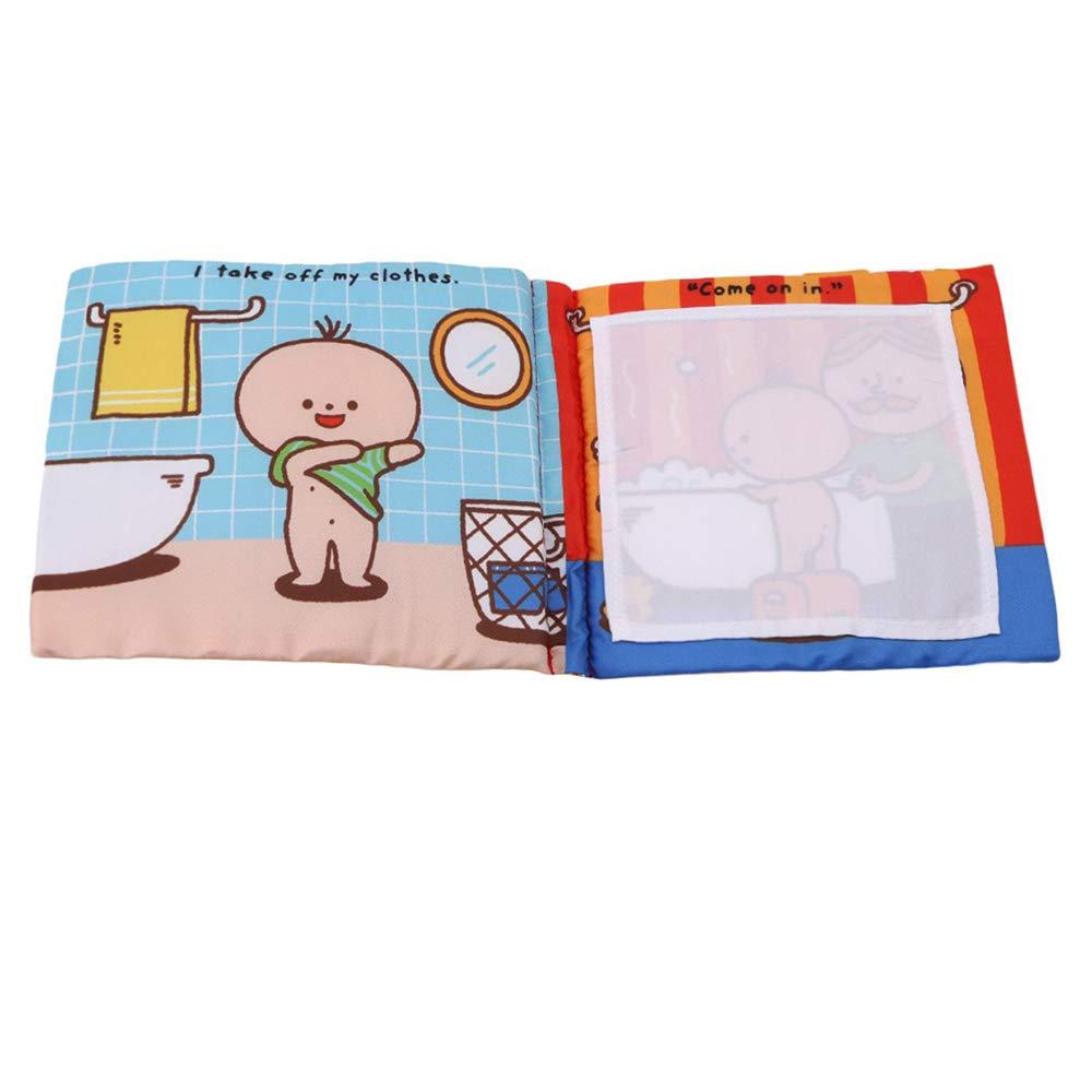Ogquaton Premium Infantil para beb/és Libro de tela suave Educaci/ón temprana Juguetes Actividad Libro de tela para aprender a ba/ñarse para ni/ños peque/ños y beb/és