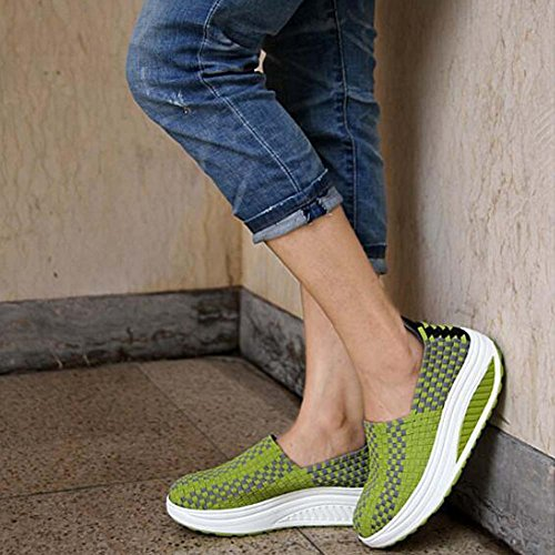 Sandales Sandales décontractées femmes Vert femmes pour d'été ANDAY compensées Sneakers pour BrBPq
