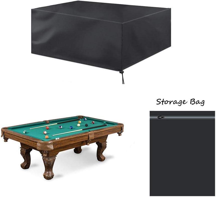 Cubierta de mesa de billar de tela Oxford resistente y duradera de 7 / 8 / 9 , cubierta de mesa de billar impermeable Protección total, tamaños universales con cordón y bolsa