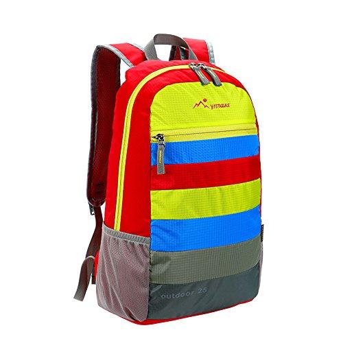 Outdoor Haut Paket Ultra-Light Sport Rucksack SPLASH Klettern Taschen Tragbare zugeben Wasserdichte Ytz-Tk 8,368 um 18:45, Farbe Muster Rot