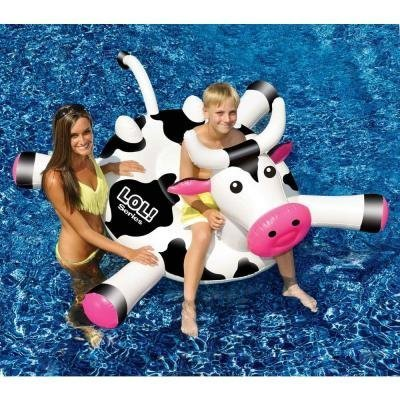 venta 54  Water Sports Inflatable Ride-On Cow Swimming Pool Pool Pool Float by Swim Central  hasta un 65% de descuento