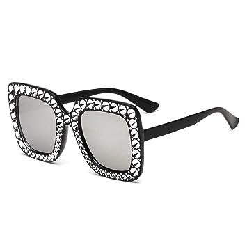cce152042e BiuTeFang Lunette de Soleil Dame de Lunettes de Soleil et Lunettes de Soleil  de Diamant Sunglasses