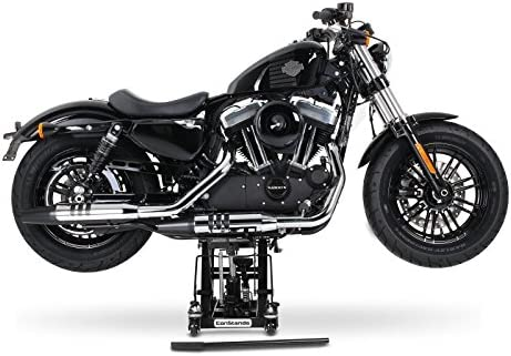 ConStands Motorrad-Hebeb/ühne f/ür Harley Davidson Softail Custom//Deluxe//Deuce//Fat Bob Hydraulisch Sicherung Schwarz