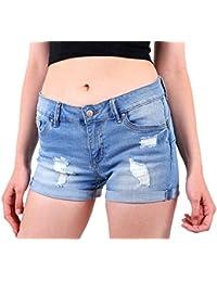 Women's Juniors Body Enhancing Denim Shorts