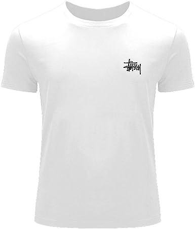 Stussy de moda Impreso para niños niñas de camiseta de manga corta Blanco blanco: Amazon.es: Ropa y accesorios