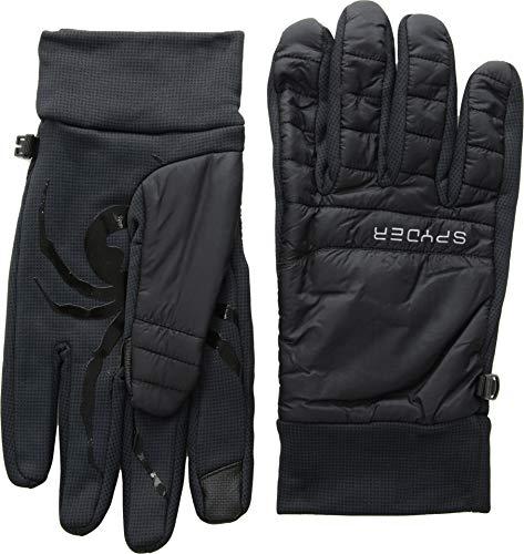 Spyder Men's Glissade Hybrid Glove, Black/Black/Black, Large
