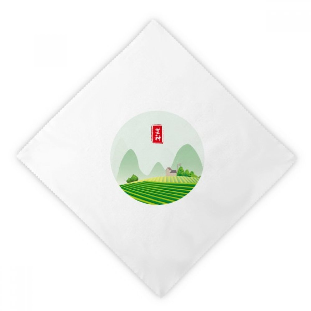 DIYthinker Circlar Grain In Ear Twenty Four Solar Term Dinner Napkins Lunch White Reusable Cloth 2pcs