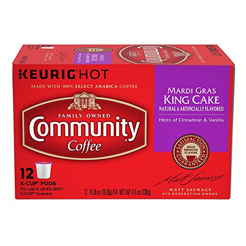 Price comparison product image Community Coffee Mardi Gras King Cake Box of 12 K-cups Limited Time!