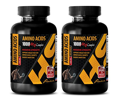 Muscle Mass Weight Gainer - Amino Acids 1000 mg Complex - Extra Strength - l-Arginine Pills - 2 Bottles 200 Capsules