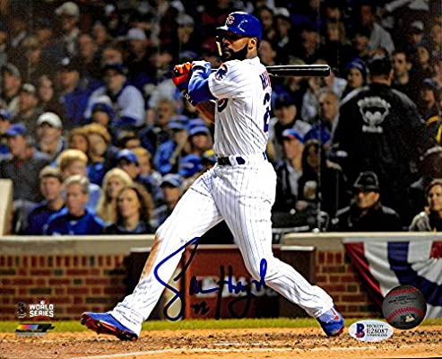 08e1ced02dc Jason Heyward Autographed 8x10 Photo Chicago Cubs World Series - Beckett  Authentic