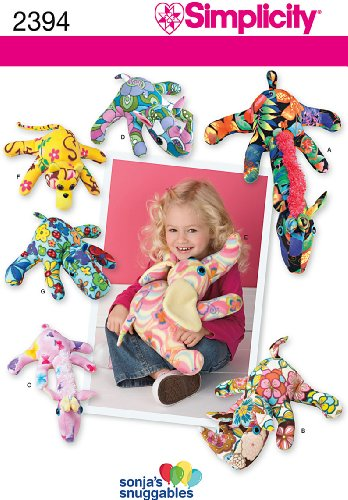 Monkey Pattern (Simplicity Sonja's Snuggables Pattern 2394 Fleece Giraffe, Rhino, Elephant and Monkey)
