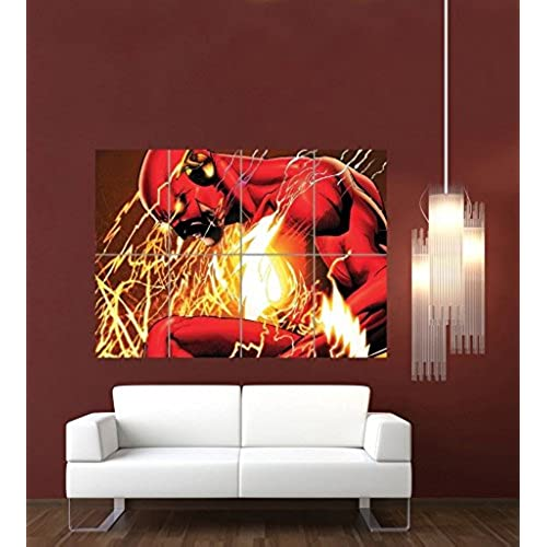 THE FLASH COMIC BOOK CARTOON GIANT ART PRINT POSTER PICTURE G1071