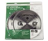 Hitachi 115400 General Purpose & Finish Blade Set for Miter/Table Saw (2 Pack), 12'