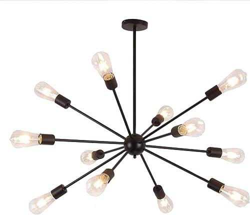 Sputnik Chandelier Modern Pendant Lighting Industrial Vintage Ceiling Light Fixture