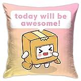 EAROBA Lankybox Foxy Boxy Square Pillow Case Comfy
