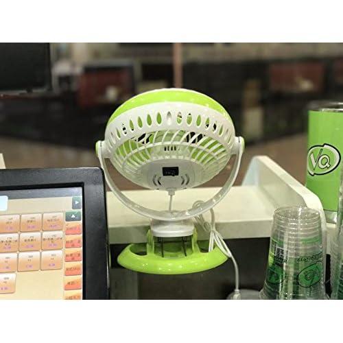 YJTCW USB small fan portable fan home student office mall wall hanging fan,green Personal Fans
