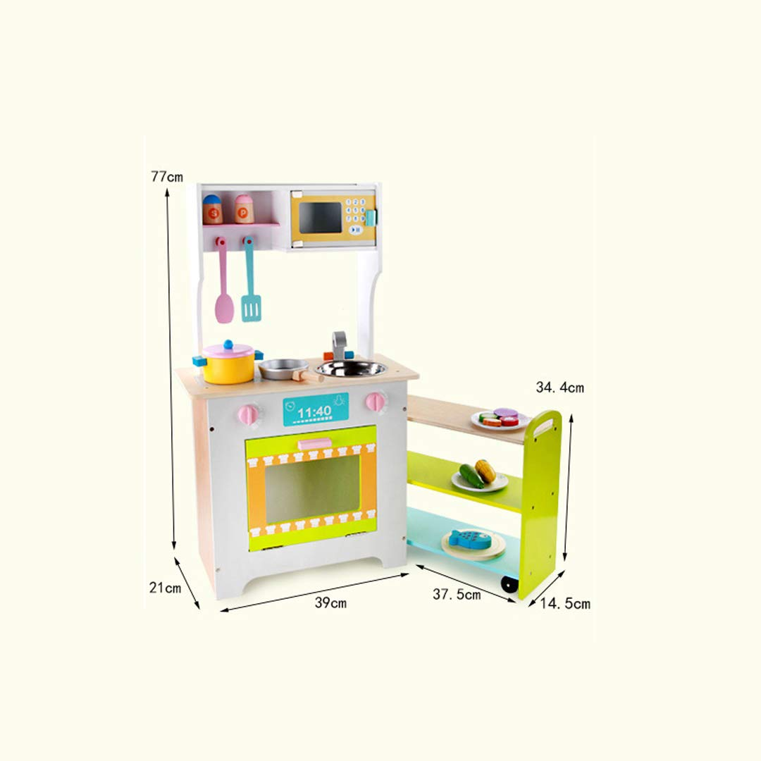 TLMYDD Cocina De Madera Estufa De Cocina Juguetes para Niños Casa Simulación Utensilios De Cocina Combinación Juguetes educativos para niños: Amazon.es: ...