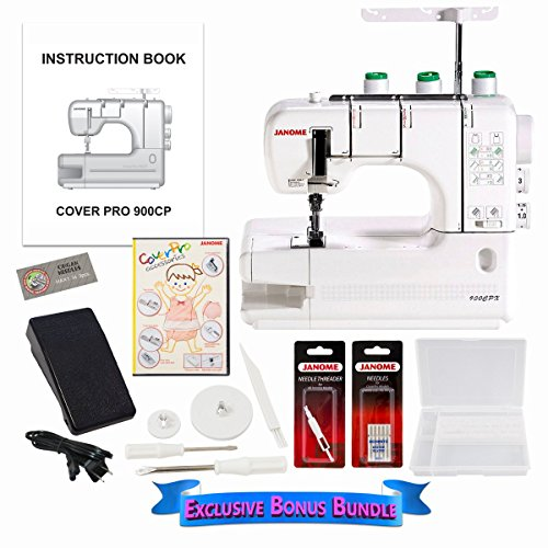 Lowest Price! Janome CoverPro 900CPX Coverstitch Machine with Exclusive Bonus Bundle