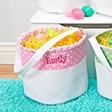 Personalized Soft and Light Easter Basket (Baby Pink)