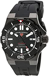 Swiss Legend Men's 10062A-BB-01-BLK-SM-RDB Abyssos Analog Display Swiss Automatic Black Watch