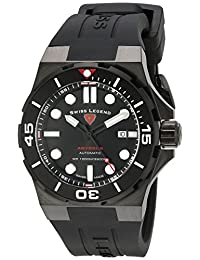 Swiss Legend Men's 10062A-BB-01-BLK-SM-RDB Abyssos Analog Display Swiss Automatic Black Watch