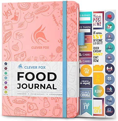 Clever Fox Food Journal - Daily Food Diary, Meal Planner to Track Calorie and Nutrient Intake, Stick to a Healthy Diet & Achieve Weight Loss Goals 1