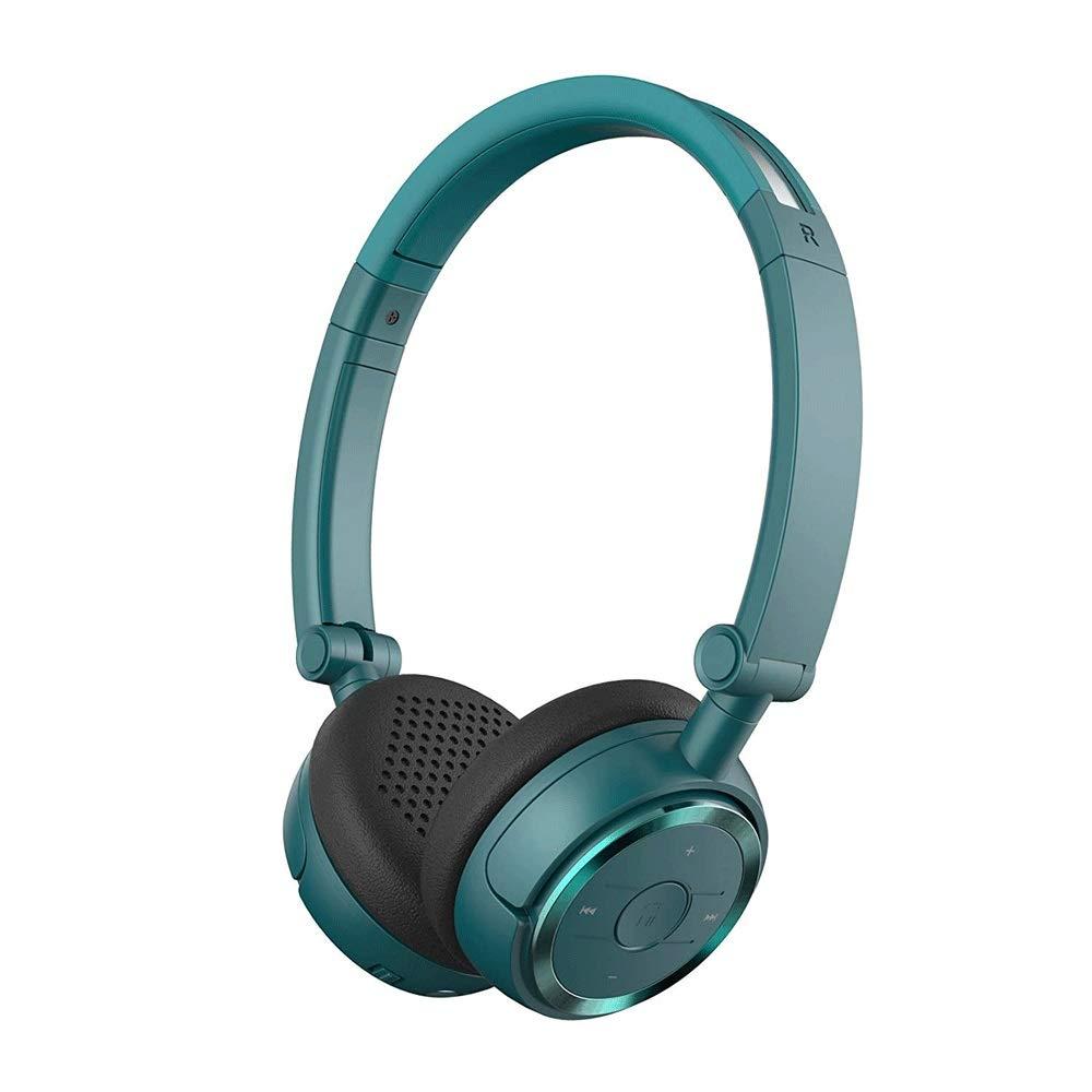 ブルートゥースヘッドフォン、ワイヤレスヘッドフォンブルートゥースV4.1、折りたたみ式コンピュータボイス電話ヘッドセットNFCクイックコネクトイヤホン (Color : Blue)  Blue B07SMVKPFX