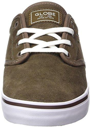 Globe Motley, Zapatillas de Skateboard Para Hombre Verde (Marrón Walnut/White)