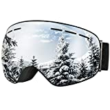 #7: OMorc Ski Goggles, Anti-Fog &100% UV400 Protection, OTG Snowboard Goggles with 180° Wide Viewing Angle and Big Spherical Dual Lens, Helmet Compatible Snow Goggles for Men Women Adult & Youth