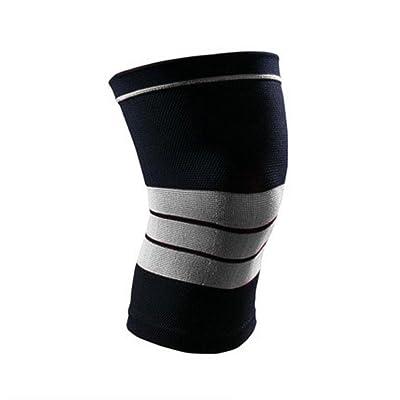 OOFWY Support de douille de compression au genou sportif pour soulager les douleurs articulaires et l'arthrite, récupération des blessures, circulation améliorée - Soutien respirant pour la course