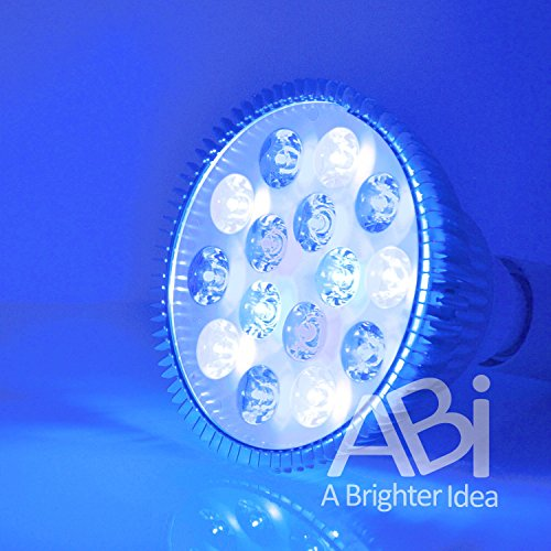 ABI LED Aquarium Light Bulb, 12W (Royal Blue 450nm + Cold White 10000K + Actinic Blue 425nm + Blue 470nm)