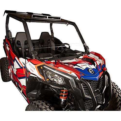 (Tusk Removable Half Windshield Clear - Fits: Can-Am Maverick Sport 1000R X MR 2019)