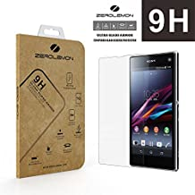 [Lifetime Warranty] ZeroLemon® Ultra Glass Armor - 9H Premium Tempered Glass Screen Protector for Sony Xperia Z1 Compact Protect your Screen from Drops and Scratches, Shatterproof