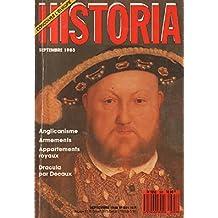 Historia n°501, septembre 1988: Anglicanisme, Armements, Appartements royaux, Dracula par Decaux
