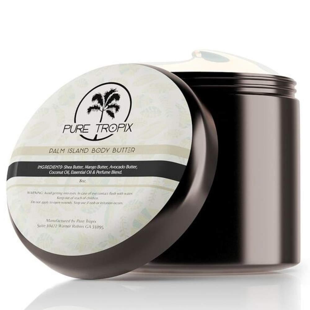 Pure Tropix Palm Island Face & Body Moisturizer | Mango Avocado & Shae Butter | Vitamin C & E oil | Acne Treatment 8 oz (236) ml