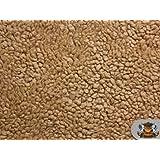 "Heavy Duty SHERPA SHEEP SKIN Camel Faux fur fabric / 66\"" WIDE / Sold by the yard"