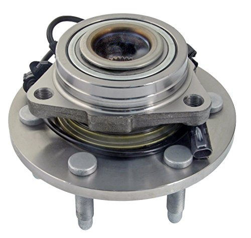 Detroit Axle - 4WD Only Brand New Front (Left or Right) Wheel Hub and Bearing Assembly for Chevrolet & GMC Truck's & SUV's 4x4 6-Lug ABS (2007 Silverado Hub)