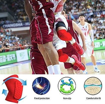 ONT Genouill/ères 1 Paire Unisexe Manchons de Compression Anti-Crash Genouill/ère Brace Basketball Genouill/ère Sport pour Hommes et Femmes