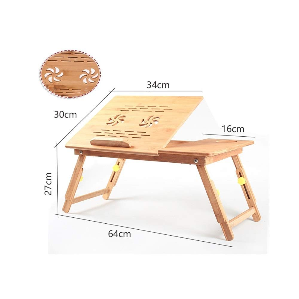 19  Laptop Table Solid Wood Collapsible Lift Computer Desk, Easy Learning Desk, Multi-Functional Desk, Support (Size   9 )