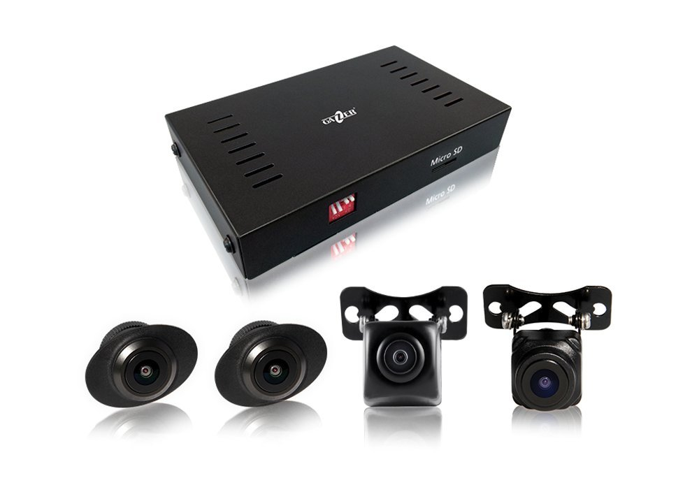 Gazer CKR4400 Universal 360 Degree Surround Bird Panoramic View System with 4 HD Cameras/Car DVR Function/Parking Mode/Installation Kit