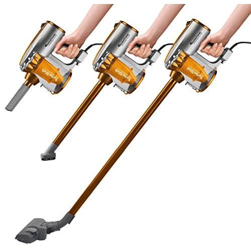Aspirateur cyclonique 2 en 1 (balai ou à main), 600W, 14 kPa, filtre Hepa, réservoir 0,5 l, câble 7 m