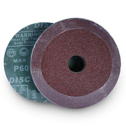 5-Inch Diameter x 7//8-Inch Arbor Hole Pack of 25 60 Grit Black Hawk Aluminum Oxide Resin Fiber Discs