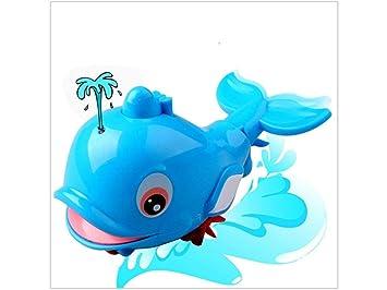 7c7234cac28fac Kinderspielzeug Cartoon Delphin schwimmen Spielzeug Badezimmer Spielzeug  Kette Kleintier Bad Spielzeug für Kinder (blau)  Amazon.de  Baby