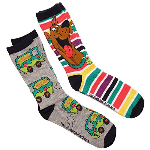 Scooby Doo Mystery Machine/Scooby Stripe Adult 2-pack Crew
