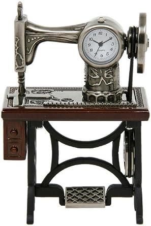 Joe Davies - Reloj en miniatura de sobremesa (10 x 7 cm, metal ...