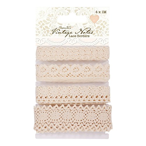(Papermania Vintage Notes Lace Borders, 4-Pack)
