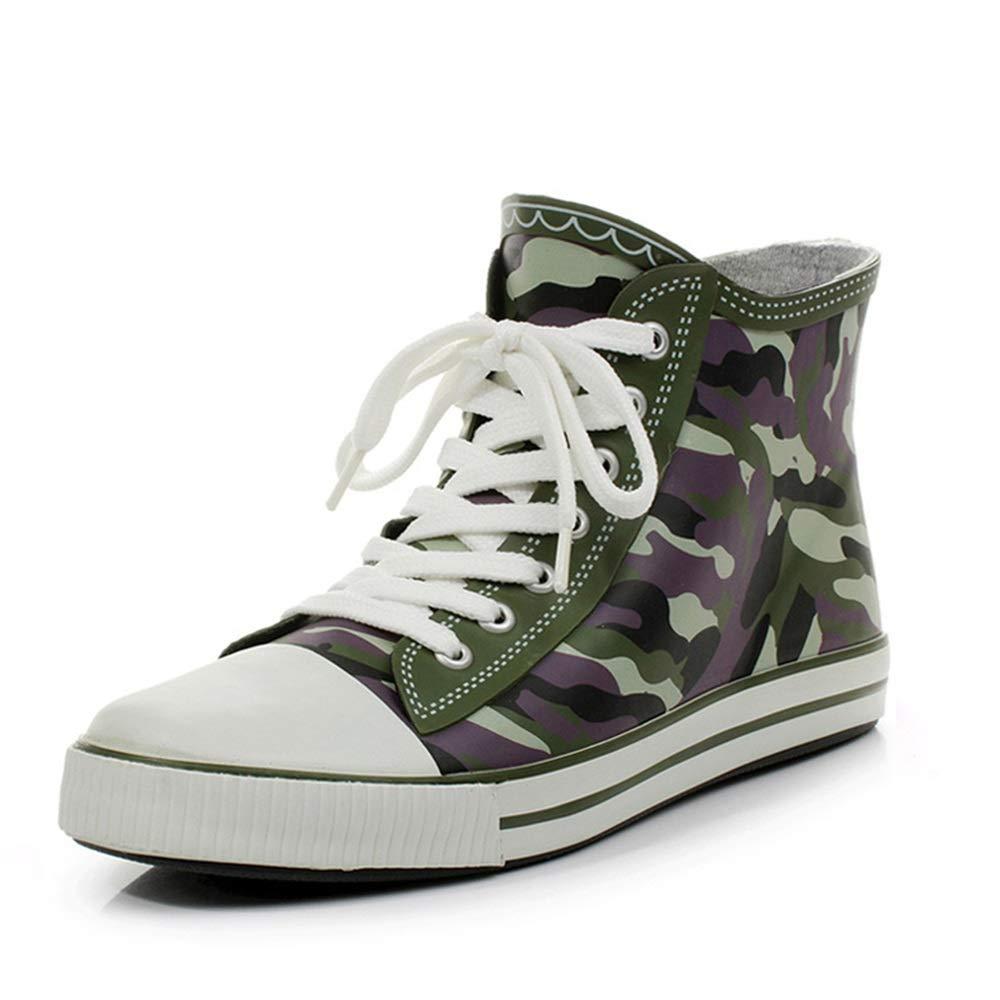 Belingeya Regenschuhe für Herren Frühling Sommer Camouflage Stiefel Herren Regen Stiefel Herren Wasser Schuhe Outdoor Angeln Schuhe Schneestiefel für Männer (Größe   36 2 3 EU)
