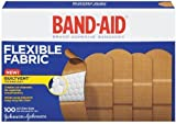 Band-Aid Adhesive Bandages, Flexible Fabric, All One Size 1' X 3' , 100 Count