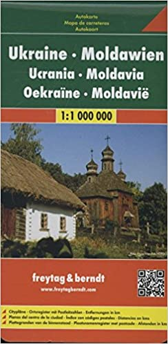 Ukraine Moldavia Road Map Road Maps English French Italian