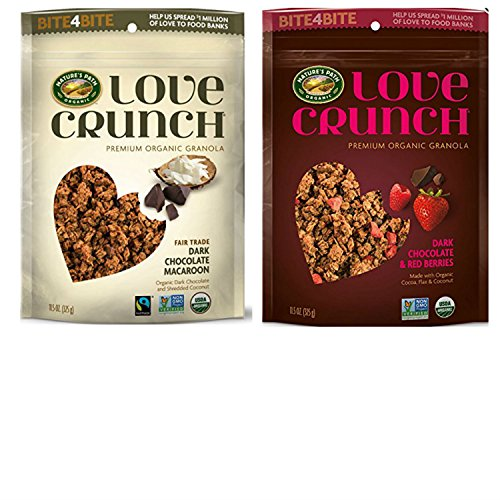Organic Granola Cereal Variety Pack from Natures Path Organic. Includes Fair Trade Dark Chocolate Macaroon and Dark Chocolate & Berries. Convenient one-Stop Shopping. ()